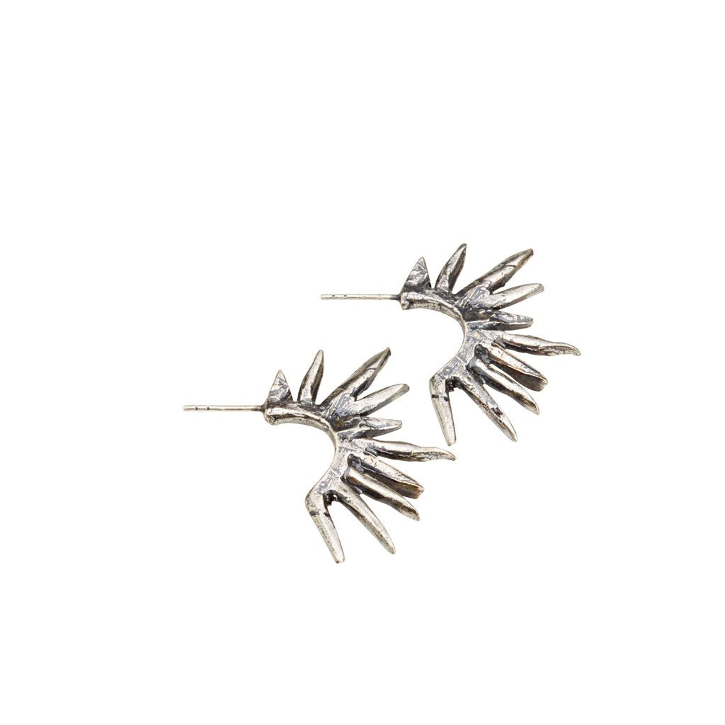 Spike Earrings - Silver