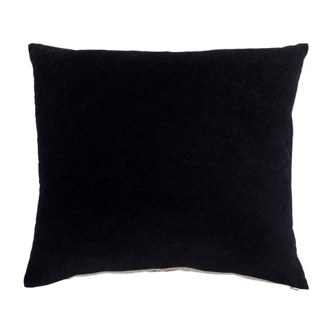 Essential Velvet Cushion - Onyx