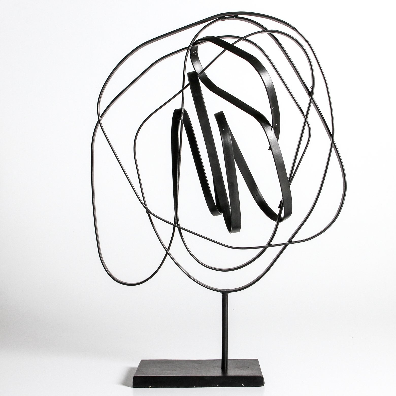 Metal Sculpture On Stand