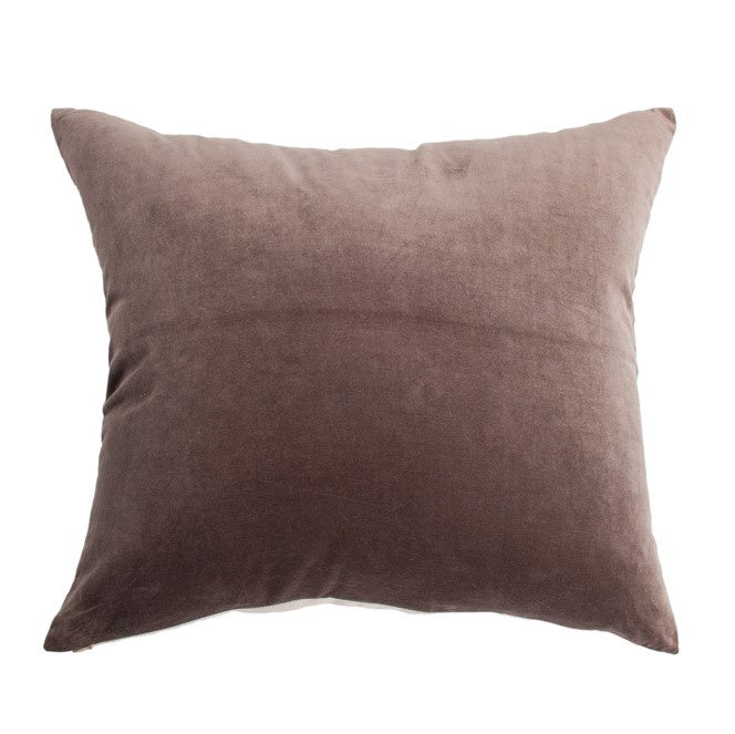 Essential Velvet Cushion - Husk