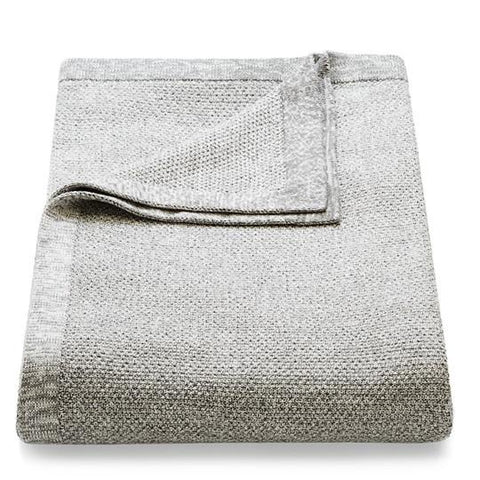 Knitted Cotton Throw - Grey Melange