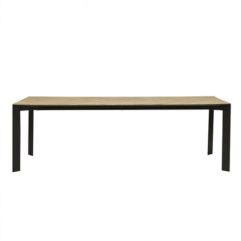 Henley Chevron Dining Table - Natural/Black