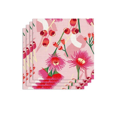 Leah Bartholomew Cotton Napkins - Red