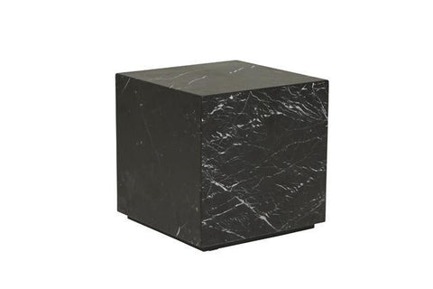 Elle Block Side Table Square - Black