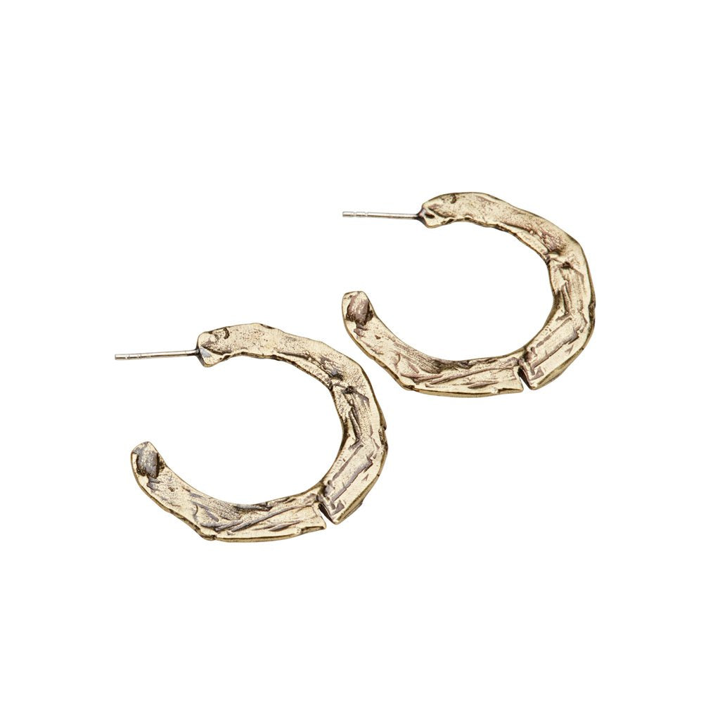 Raw Mid Hoop Earrings