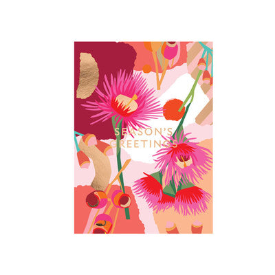 Leah Bartholomew Christmas Greeting Card - Red