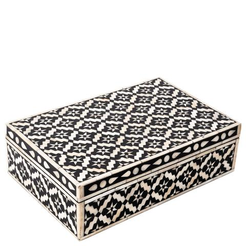 Wallpaper Pattern Inlay Box - Black