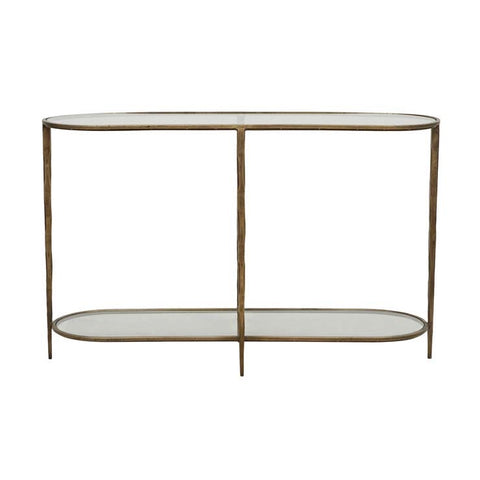 Amelie Oval Console - Glass