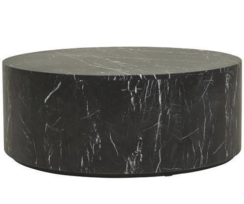 Elle Round Block Coffee Table - Black