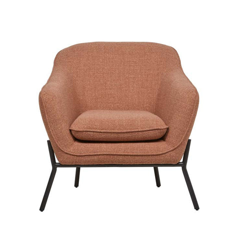 Orlando Metal Leg Occasional Chair - Paprika