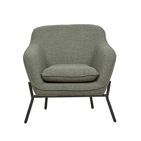 Orlando Metal Leg Occasional Chair - Sea Moss