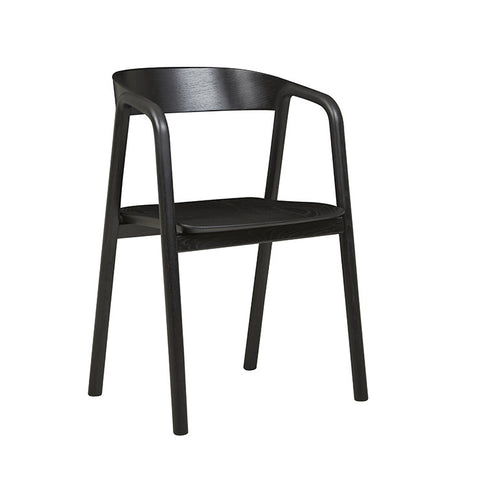Tolv Inlay Arm Chair - Black