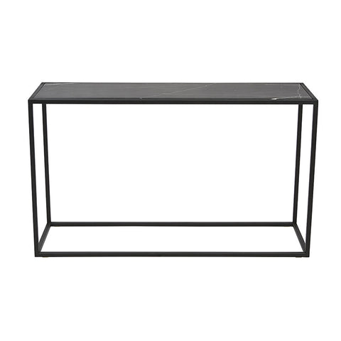 Elle Cube Marble Console Table- Black