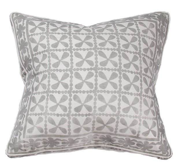Linen Moroccan Tile Beach Cushion