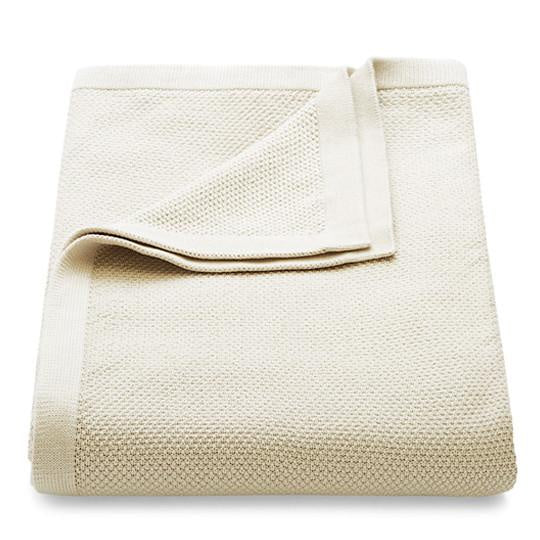 Knitted Cotton Throw - Pumice