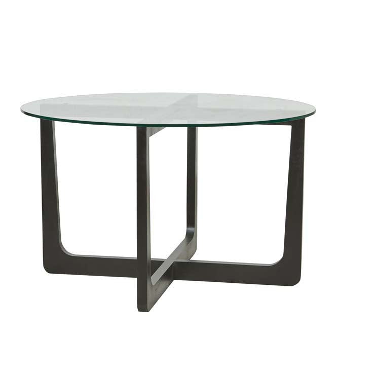 Geo Round Dining Table - Charcoal