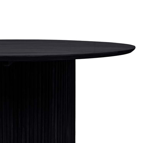 Tully Round Dining Table - Black