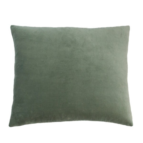 Essentail Velvet Cushion - Grey Celadon - Established for Design