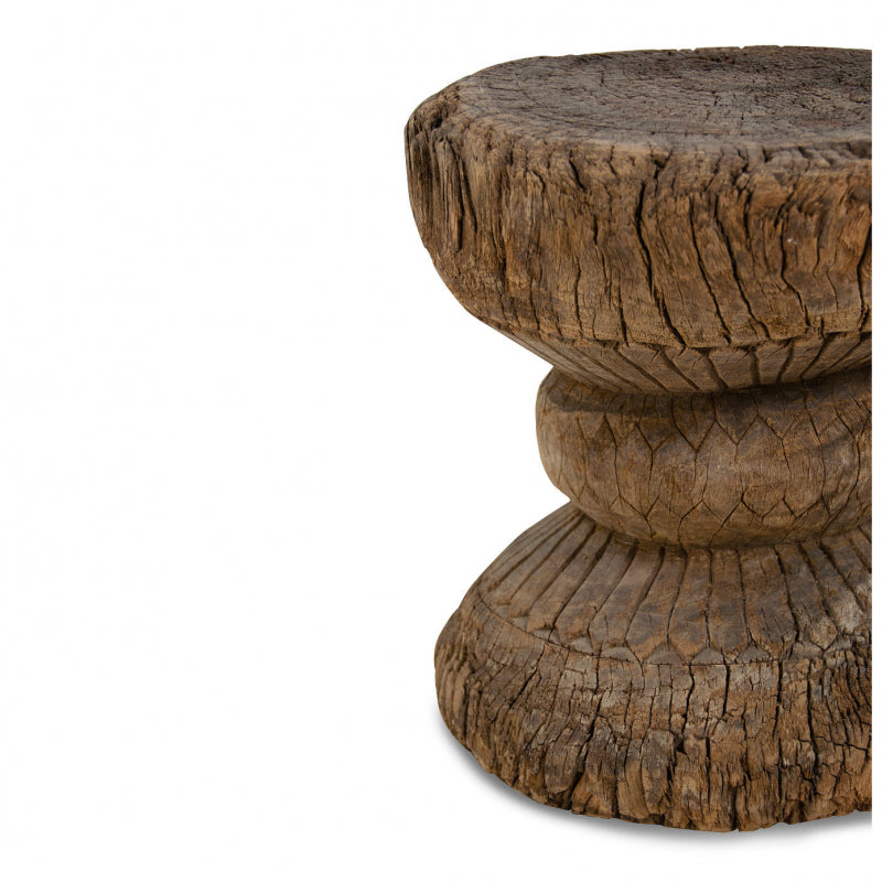 Old Indian Wooden Stool - Medium
