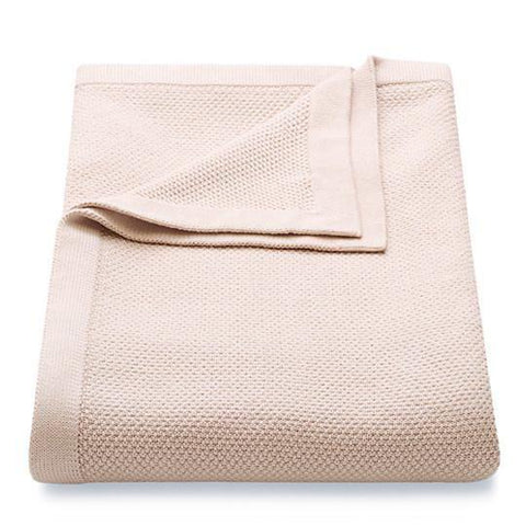 Knitted Cotton Throw - Peony