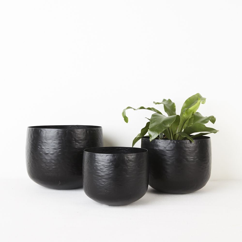 Hammered Pot - Black