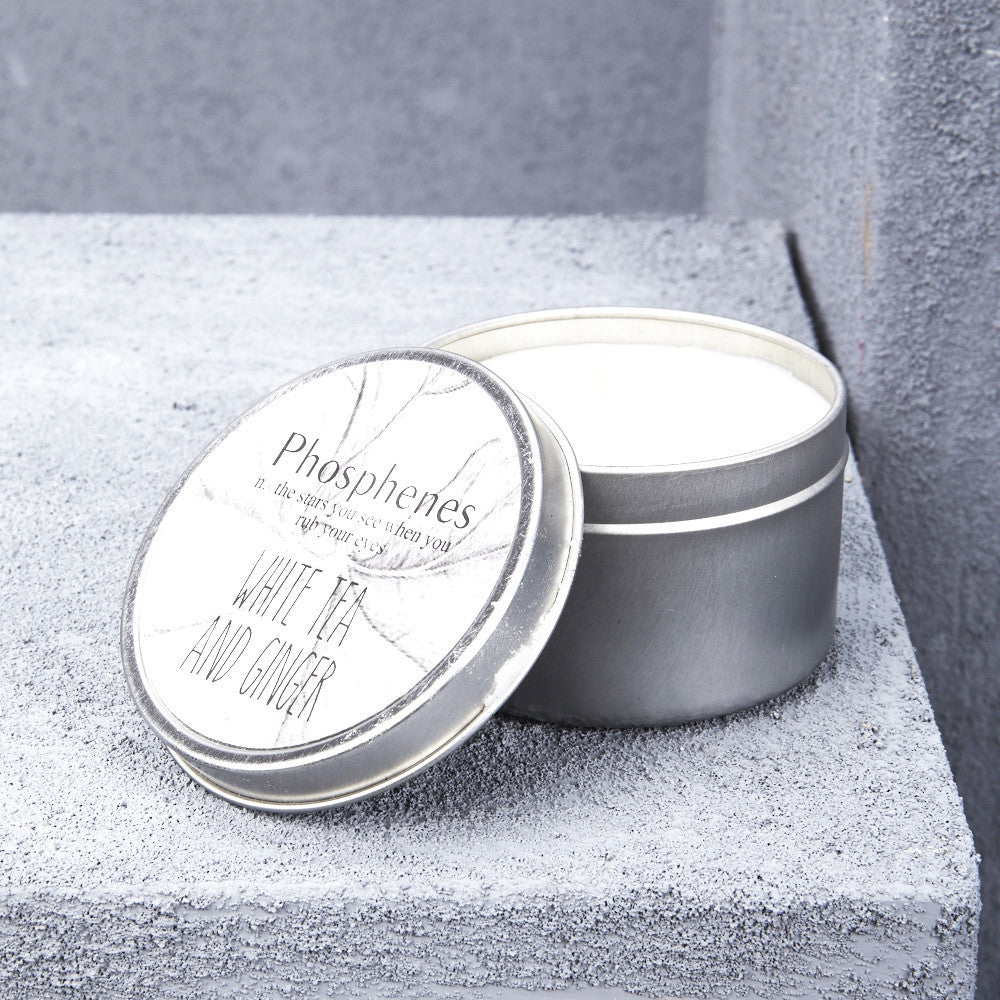 Inartisan Travel Tin Candle - White Tea and Ginger