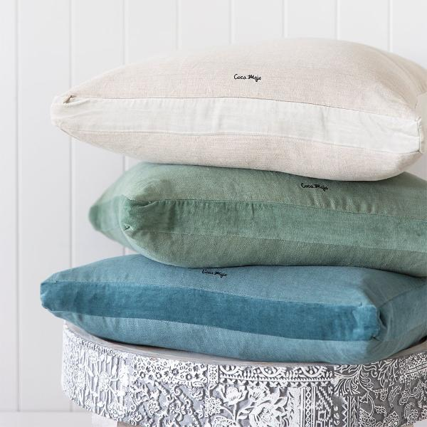 Essential Linen Cushion - Lichen