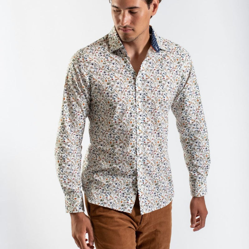 James Harper Olive Garden Floral Shirt