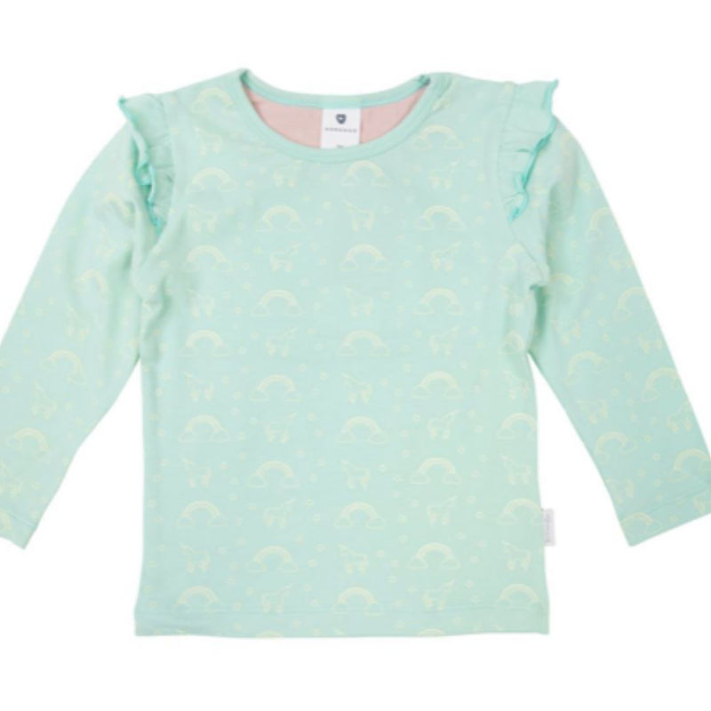 Korango Fantasy AOP Top children long sleeve top Korango 9-12mnths Mint