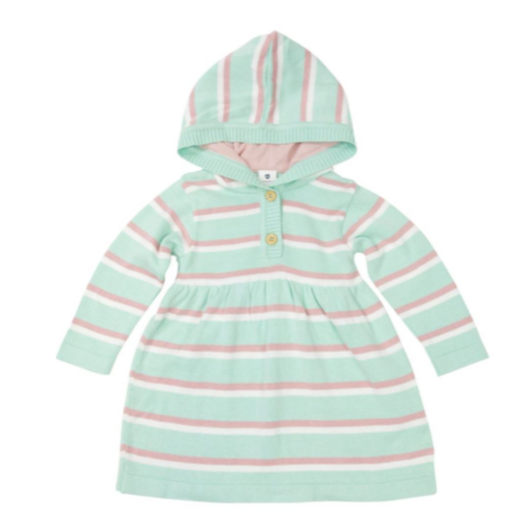Korango Fantasy Hooded Knit Dress Childrens dress Korango 9-12mnths Mint