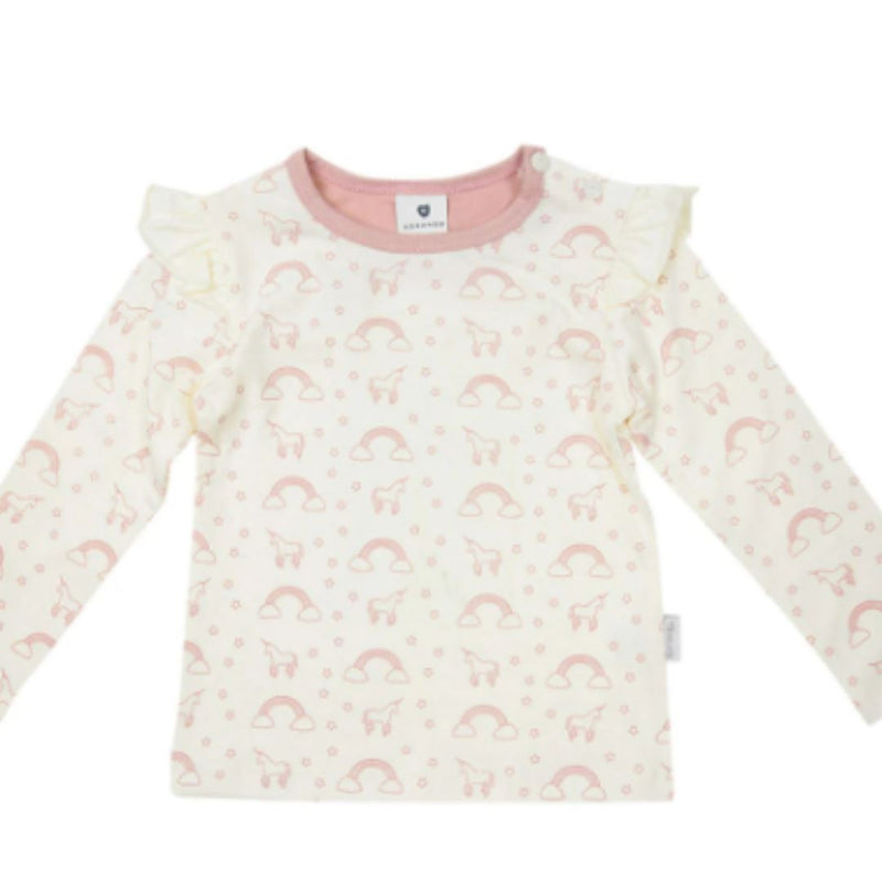 Korango Unicorns & Rainbows Top Pink