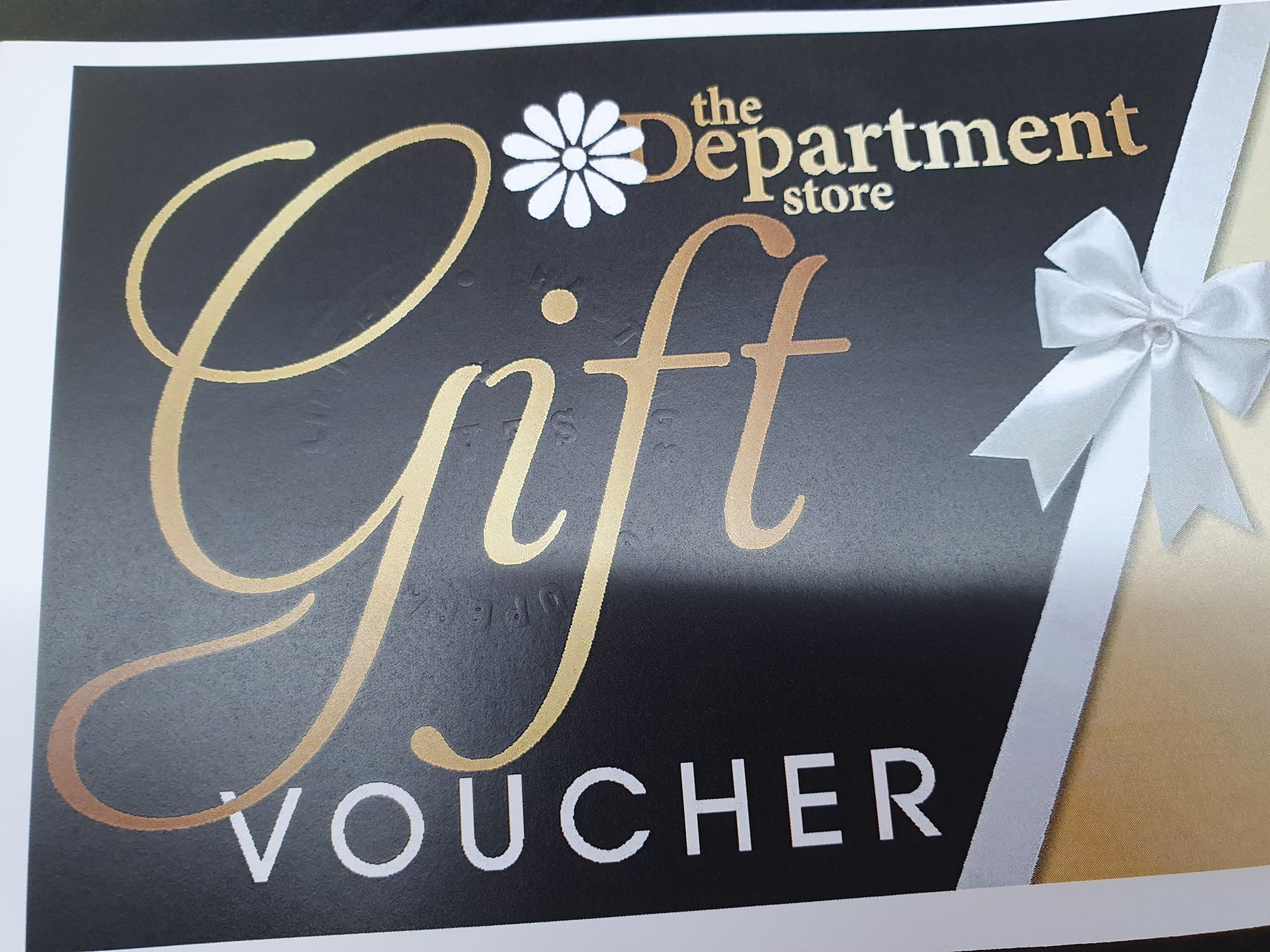 The Department Store Gift Voucher Gift Card The Department Store