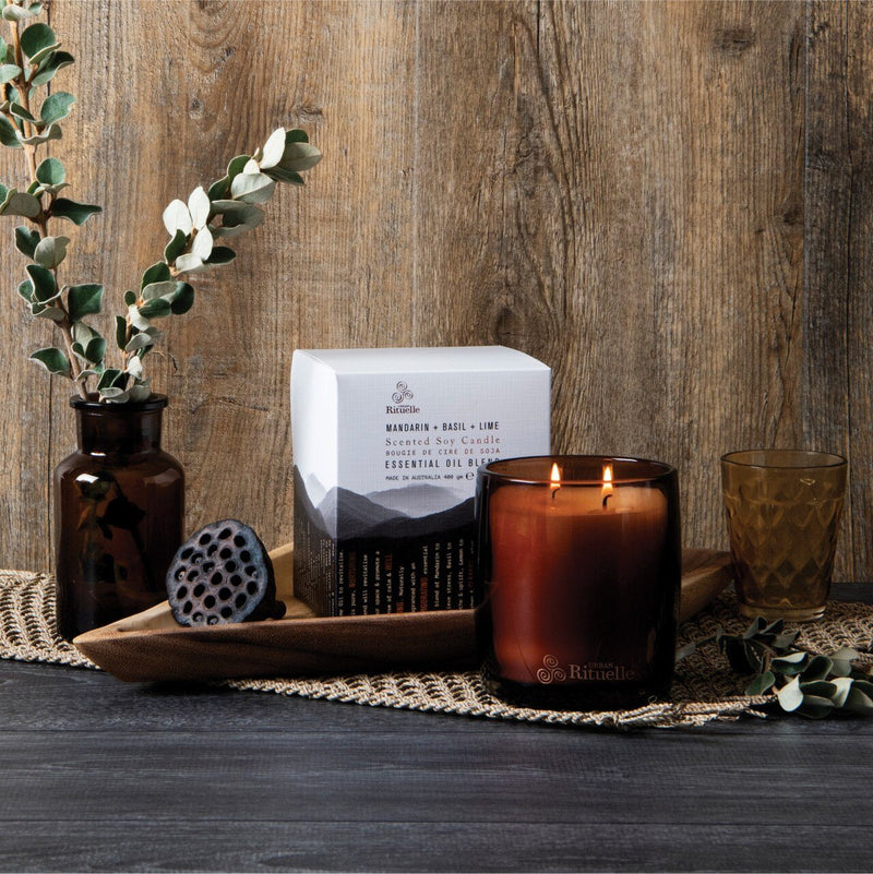Urban Rituelle Equilibrium Mandarin, Basil & Lime Scented Soy Candle