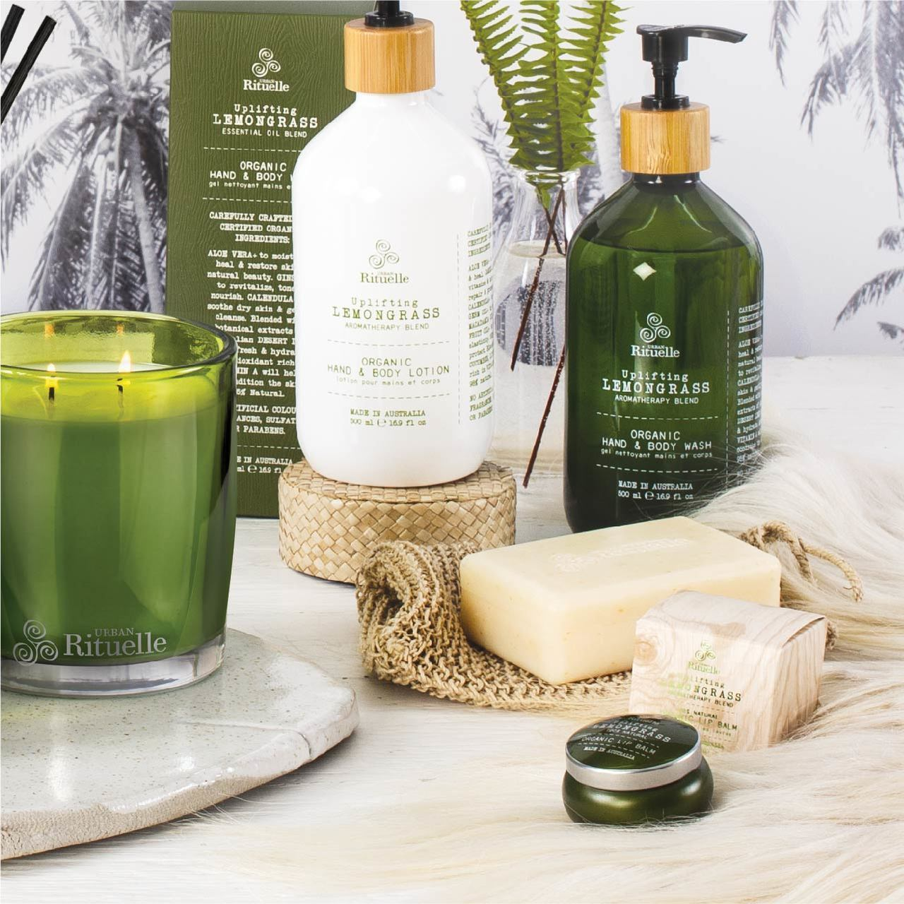 Urban Rituelle Flourish Organics Lemongrass, Lemon Myrtle, Grapefruit & Eucalyptus Organic Hand & Body Lotion Hand and Body Lotion Urban Rituelle