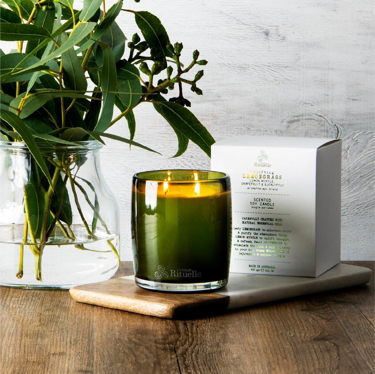 Urban Rituelle UpliftingLemongrass Scented Soy Candle