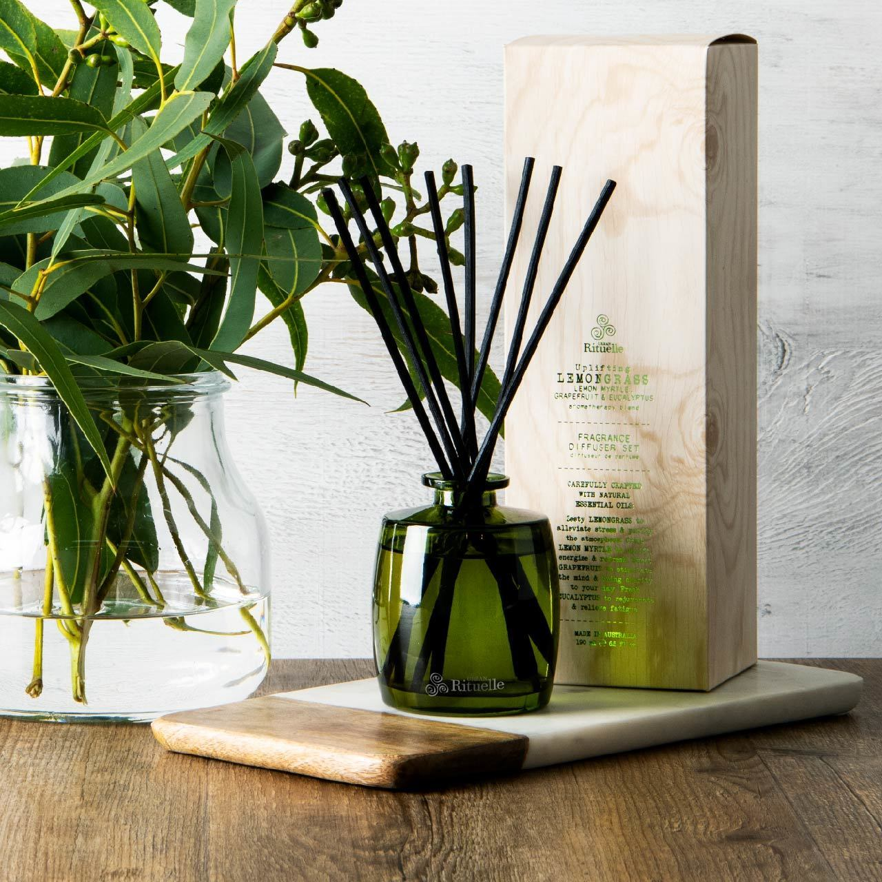 Urban Rituelle Uplifting Lemongrass Fragrance Diffuser Set