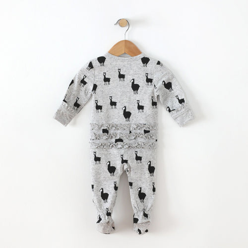 Llama Land Footie with Ruffle - SALE 25% OFF