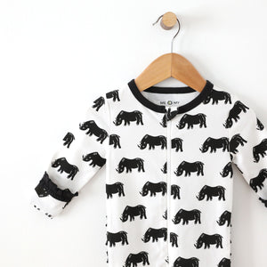 Save the Rhino Footie with Ruffle