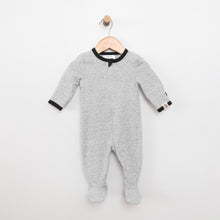 Load image into Gallery viewer, Solid Heather Grey Footie