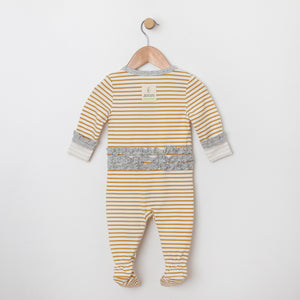 Stripe Footie with Ruffle