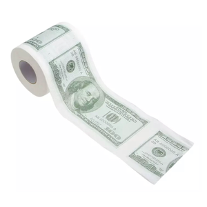 Money Print Toilet Paper