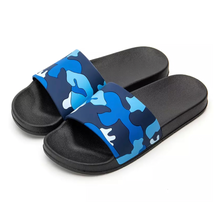 Load image into Gallery viewer, Blue Camo Slides