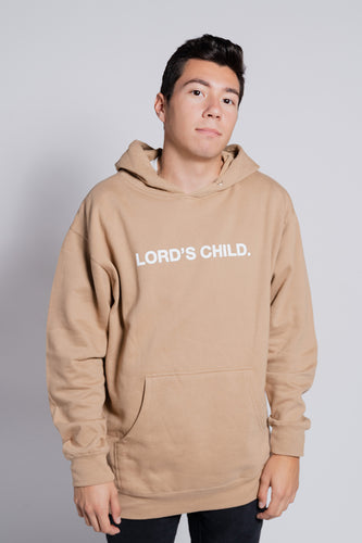 LORD'S CHILD. TAN HOODIE