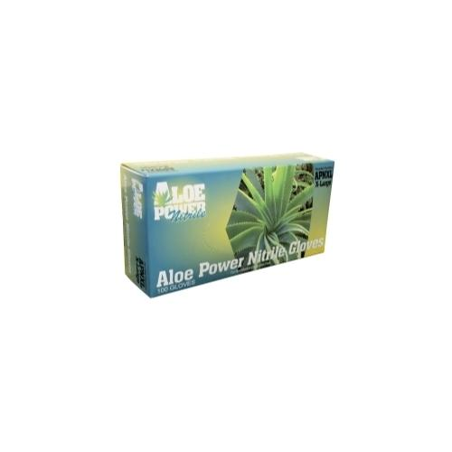 Aloe Power Medium Aloe Infused Nitrile Gloves