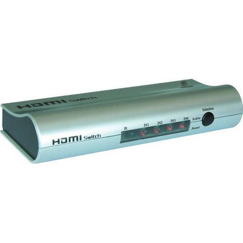 High Definition HDMI 4 Source Input and 1 Source Output Wireless Operated Switcher