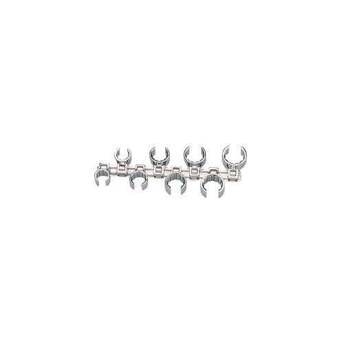 CROWFOOT WRENCH SET 3/8DR 12PT W/RAIL