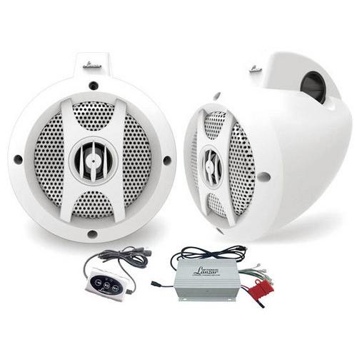 "4 Channel Quad Waterproof 4"" UTV/ATV/Snowmobile/Marine Amplified Speaker System with Bluetooth Audio Interface"