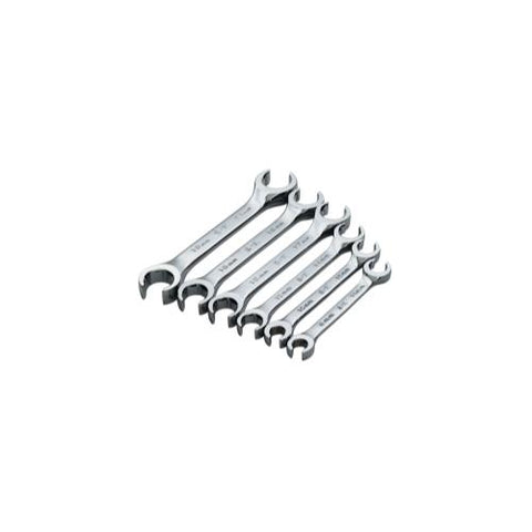 WRENCH SET FLARE NUT OFFSET 6 PC MET 15 DEG OFFSET