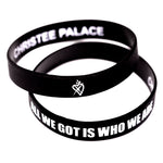 ALL WE GOT IS WHO WE ARE BLACK SILICONE BRACELET