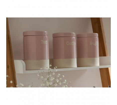 Pink Coffee Canister